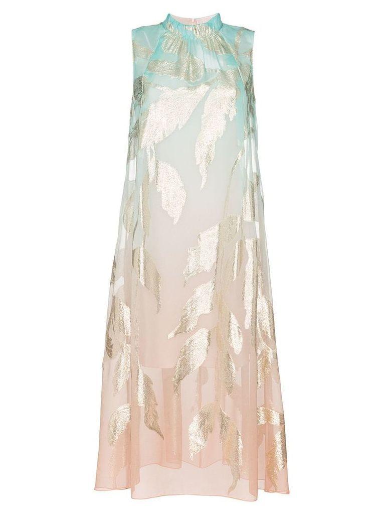 Peter Pilotto gradient midi dress - Blue
