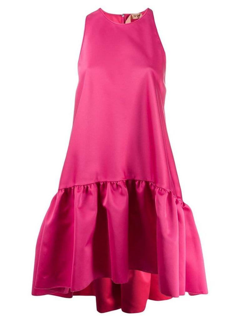Nº21 drop-peplum dress - Pink