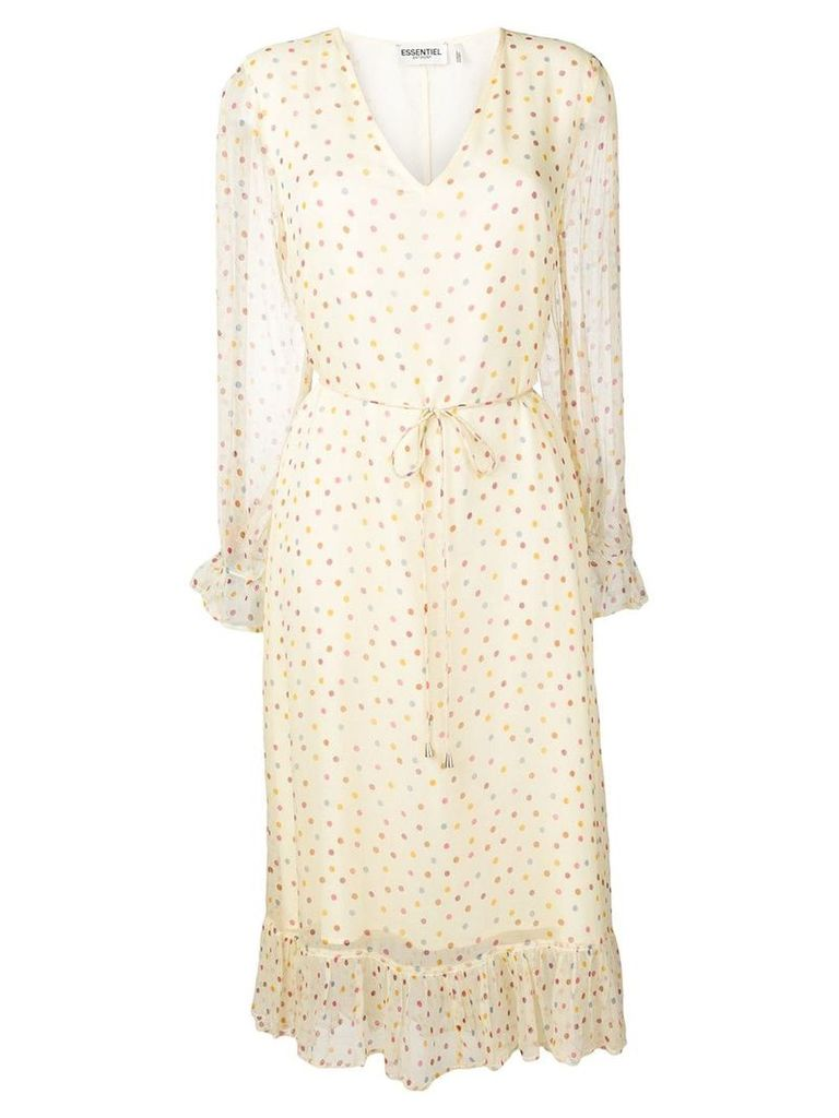 Essentiel Antwerp polka dot print dress - Neutrals
