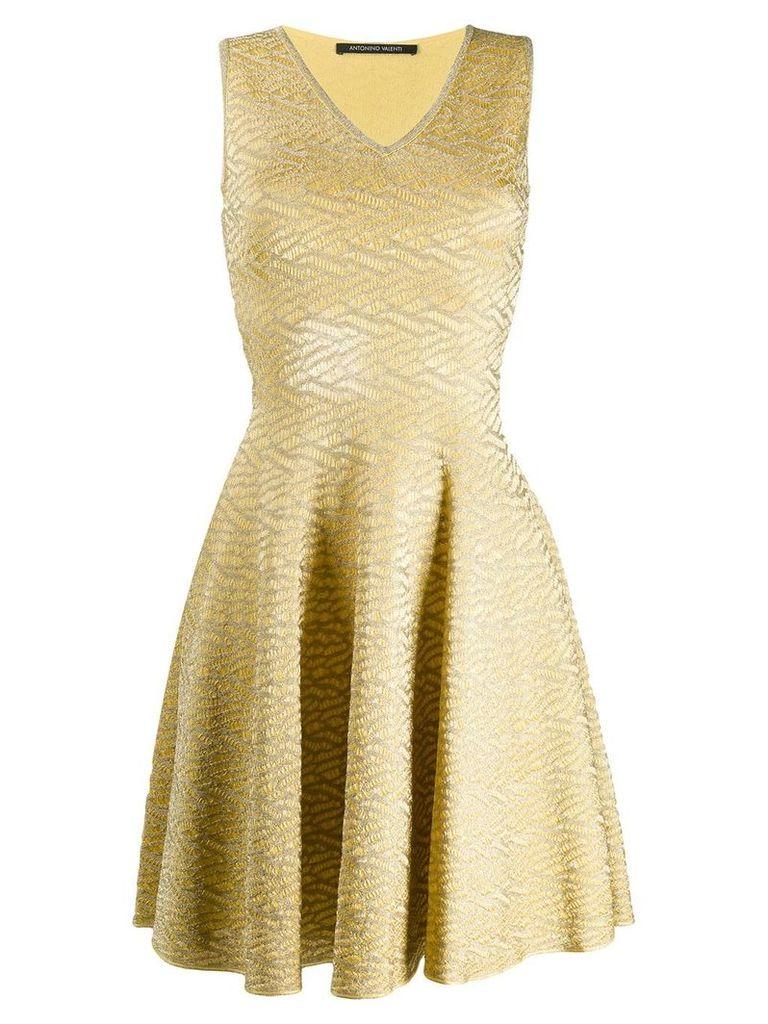Antonino Valenti brocade flared dress - Yellow
