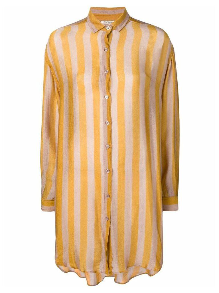Mes Demoiselles striped pyjama blouse - Yellow