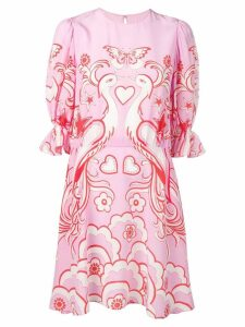 Valentino Phoenix print dress - Pink