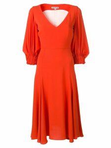 Edeline Lee balloon sleeve dress - Orange