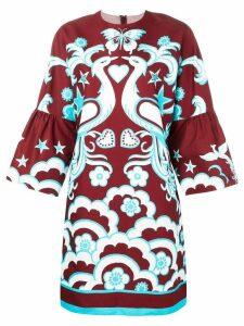 Valentino Phoenix print dress - Red