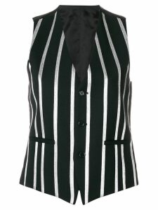 Each X Other striped waistcoat - Black