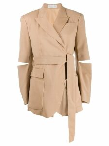Sonia Rykiel wrap-around styled blazer - Neutrals