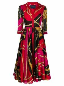Samantha Sung Aster midi dress - Red