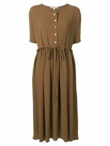 Edeline Lee short sleeve dress - Brown