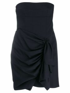 Alexandre Vauthier gathered draped front dress - Blue