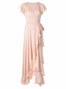 Mitos ruffled wrap dress - Pink