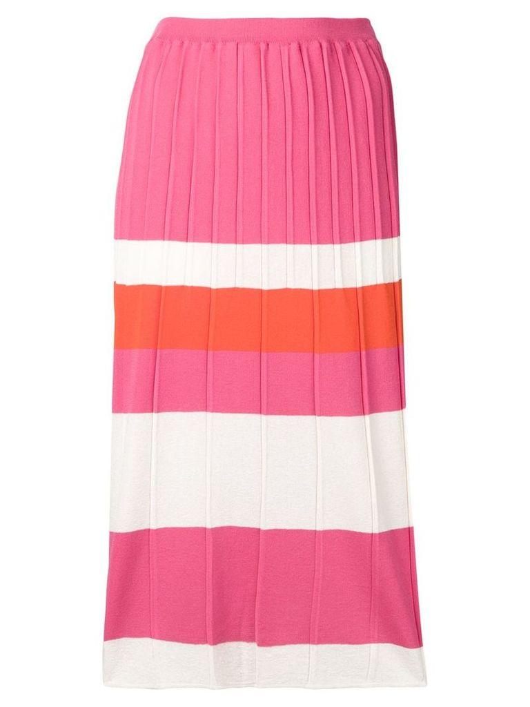 Chiara Bertani striped pencil skirt - Pink