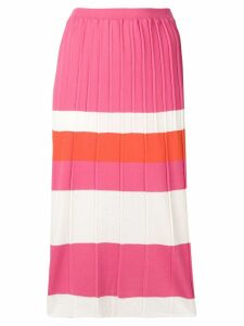 Chiara Bertani striped pencil skirt - Pink