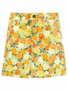 Simon Miller short floral skirt - Yellow
