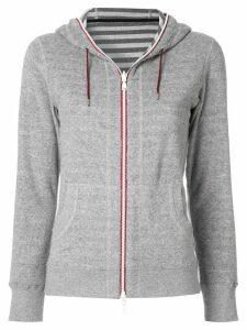 Loveless zipped fleece hoodie - Grey