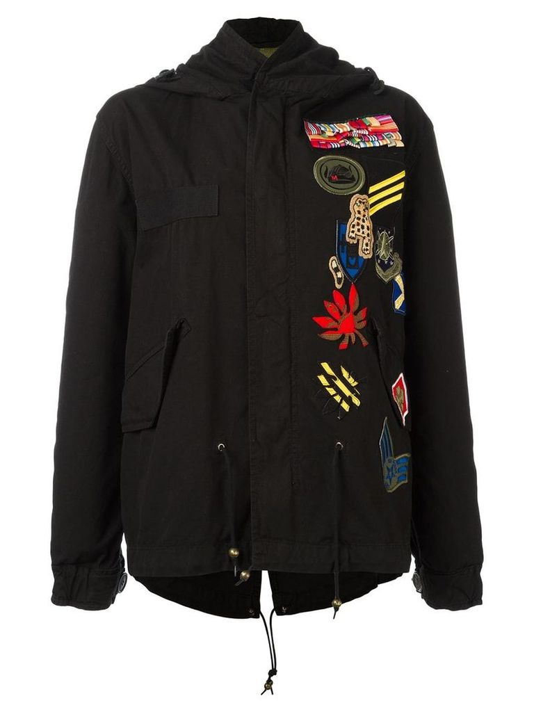 Mr & Mrs Italy embroidered parka - Black