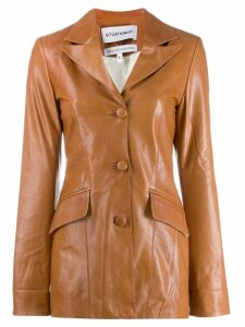 Situationist single breasted coat - Brown