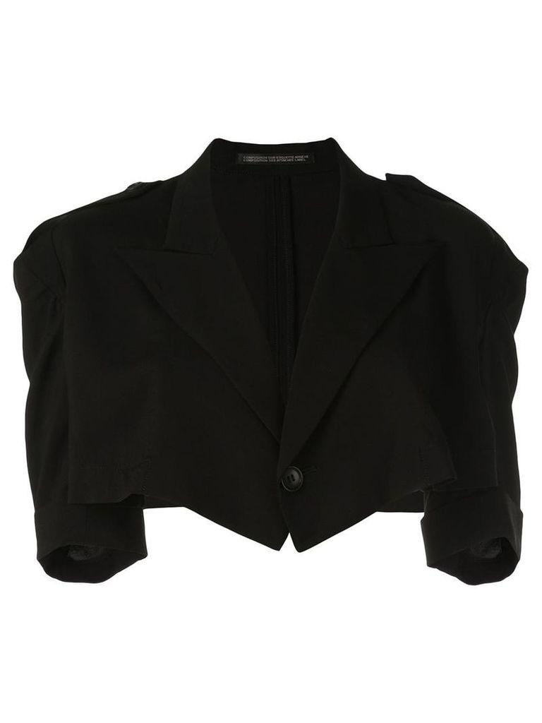 Yohji Yamamoto short blazer - Black