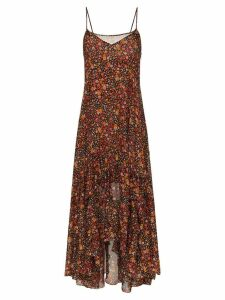 Faith Connexion ruffle hem floral maxi dress - Black