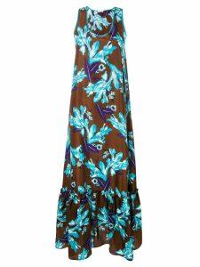 P.A.R.O.S.H. floral dress - Brown