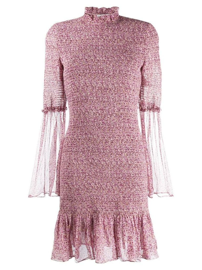 Stella McCartney ruched floral dress - Purple