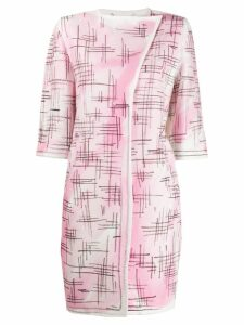 Moschino brushstroke coat - Pink