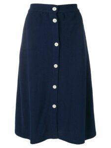 Maison Kitsuné buttoned midi skirt - Blue
