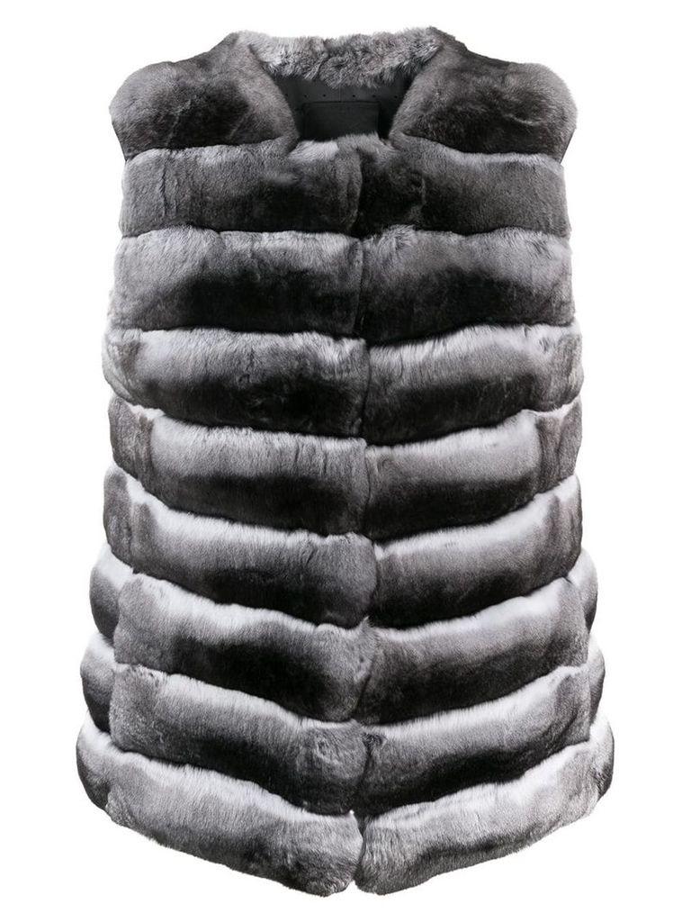 Liska chunky fur waistcoat - Grey