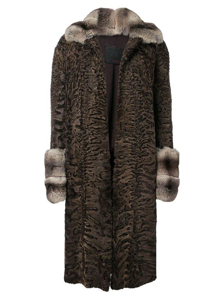 Liska Mexx midi fur coat - Brown