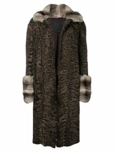 Liska Mexx midi fur coat - Brown