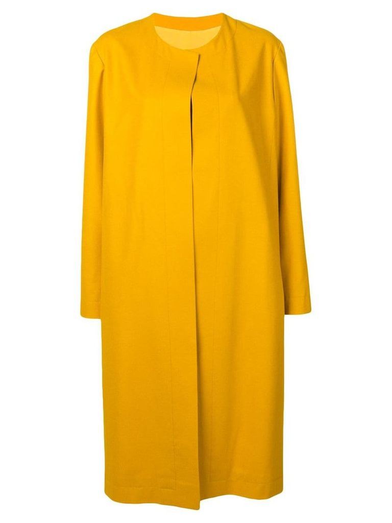 Liska Yarden long cashmere coat - Yellow