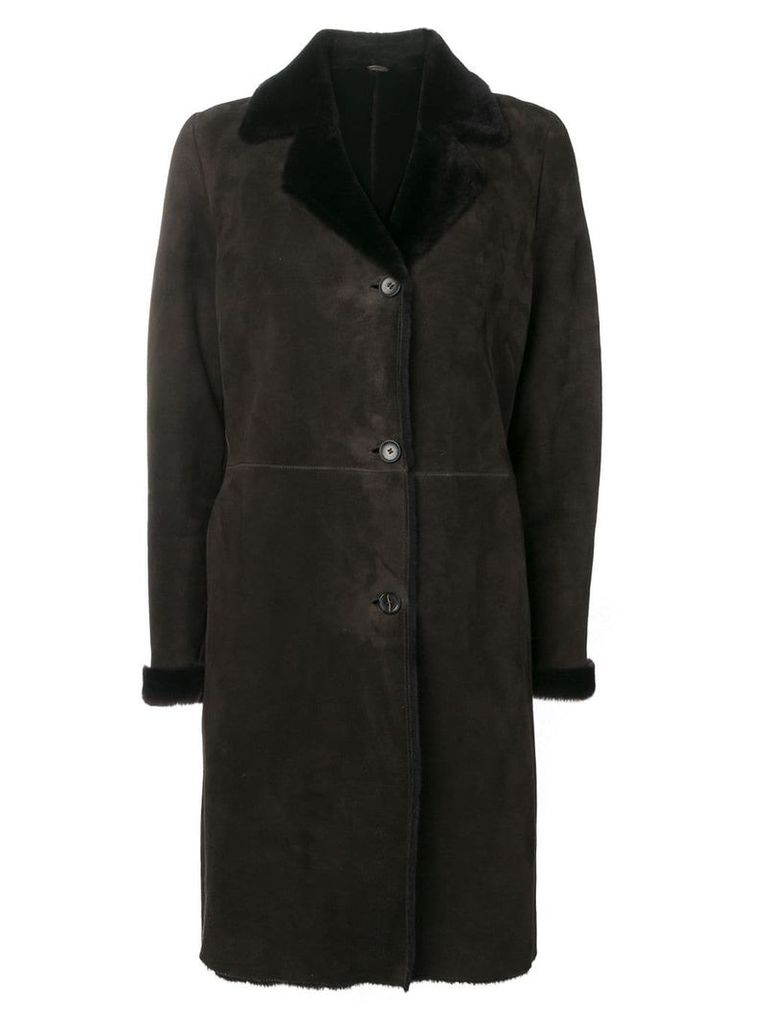 Liska single-breasted coat - Brown