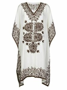 P.A.R.O.S.H. embroidered tunic dress - White