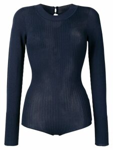 Jacquemus ribbed knitted body - Blue