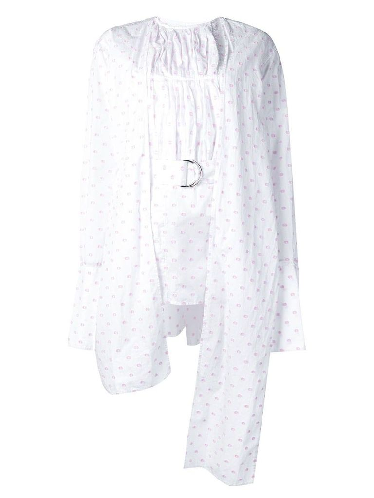 JW Anderson belted dotted blouse - White