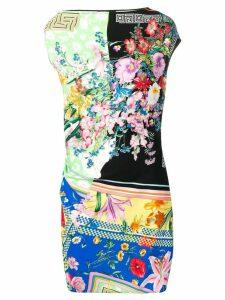 Versace contrast print dress - Green