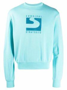 GmbH embroidered detail sweatshirt - Blue