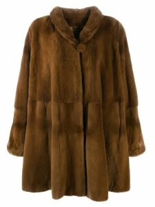 Liska Mantel fur coat - Brown