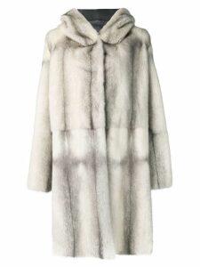 Liska Dawson II fur coat - Grey