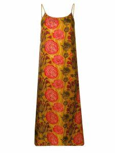 Uma Wang floral print slip dress - Neutrals