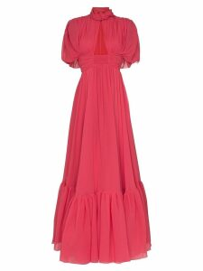 Giambattista Valli keyhole detail twisted neck gown - Pink