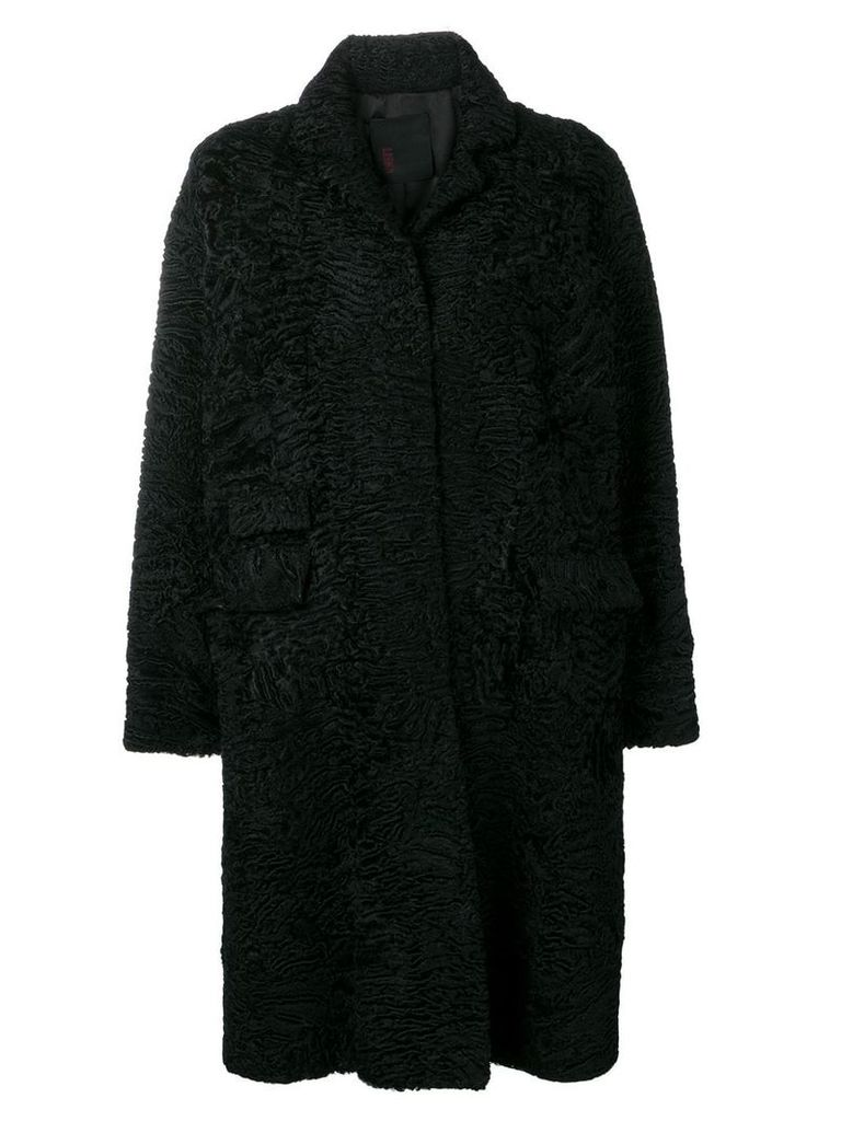 Liska single-breasted coat - Black