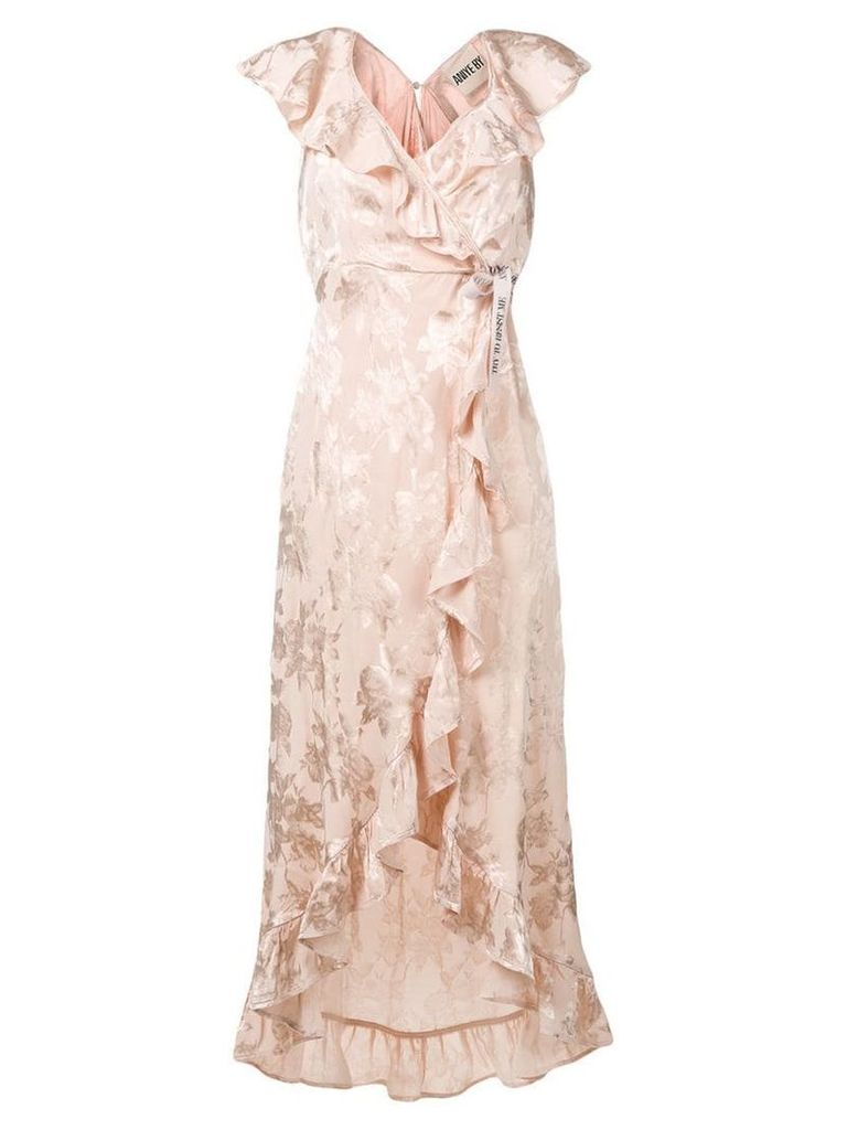 Aniye By wrap-around long dress - Neutrals