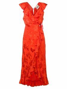 Aniye By wrap-around lace dress - Orange