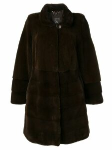 Liska classic midi fur coat - Brown