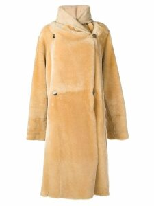 Liska Lisa long shearling coat - Neutrals
