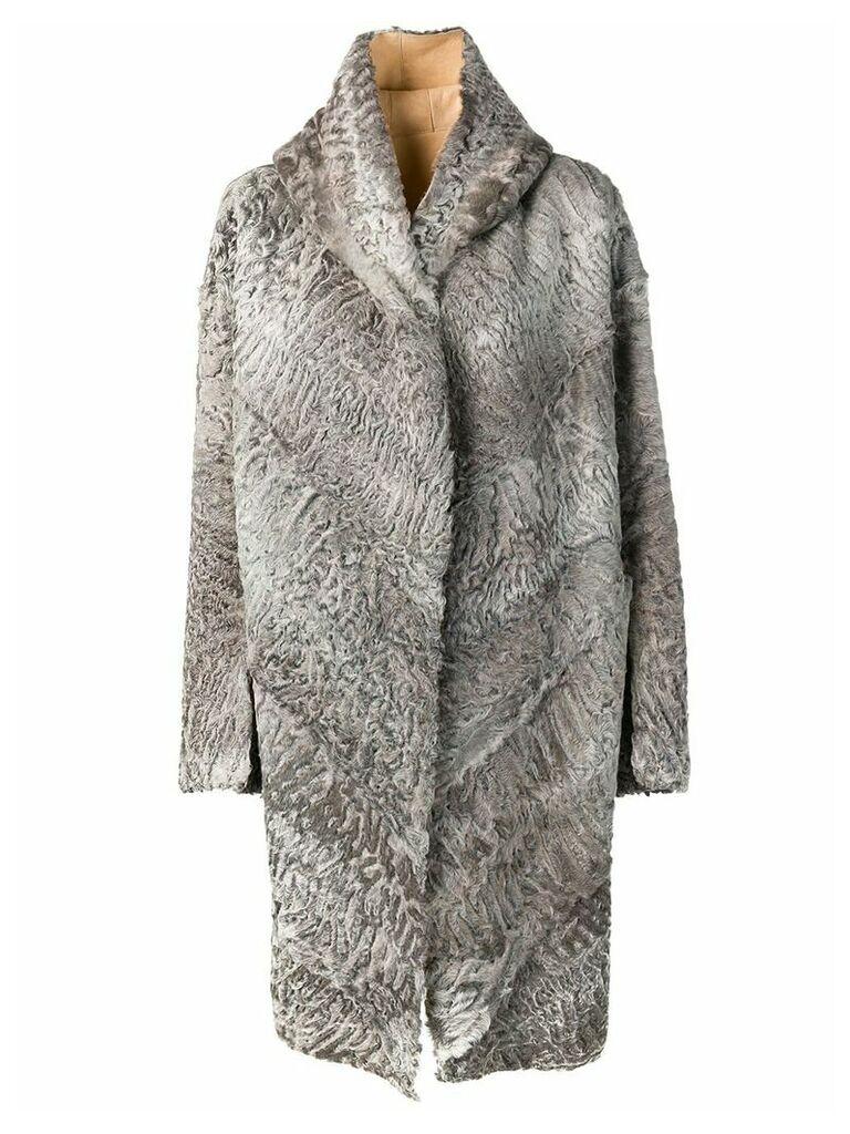 Liska Chiron shearling coat - Grey