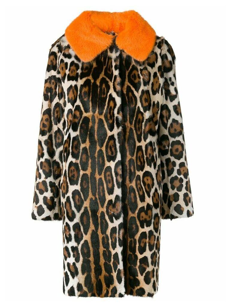 Liska Netta leopard print coat - Neutrals