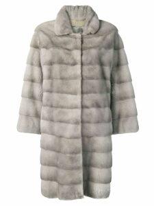 Liska Trudy fur trimmed coat - Grey