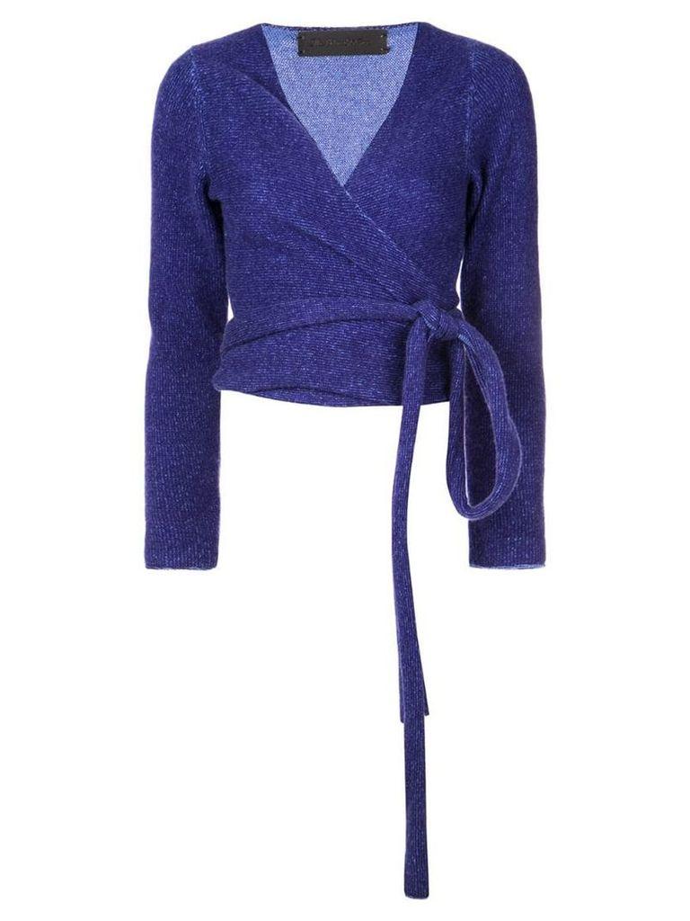 The Elder Statesman ballet wrap top - Purple