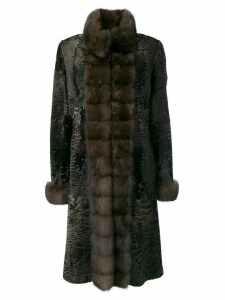 Liska Diana fur trimmed coat - Brown